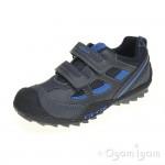 Geox Savage Boys Navy Royal Shoe