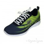Skechers Equalizer Split Up Mens Navy Lime Trainer