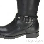 Geox Sofia Girls Black Buckle Boot
