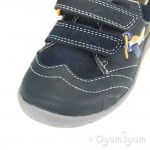 Clarks SoftlyLiam Fst Boys Navy Aeroplane Shoe