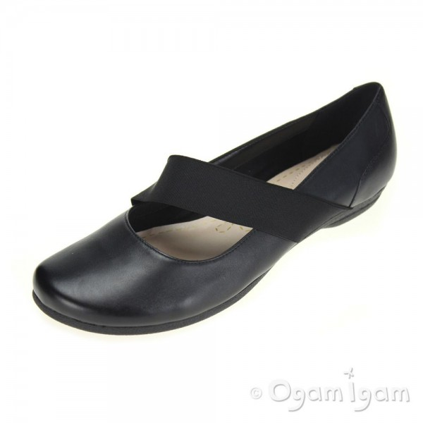 Clarks Discovery Ritz Womens Black Shoe