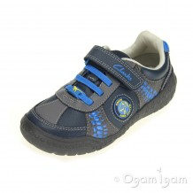 Clarks Stomp Roll Inf Boys Blue Combi Shoe