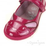 Clarks NibblesCuteInf Girls Berry Patent Shoe