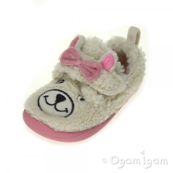 Clarks Shilo Jane Fst Girls Cream Slipper