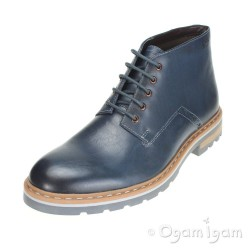 Clarks Dargo Lo Mens Dark Blue Boot
