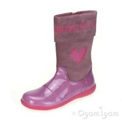Agatha Ruiz de la Prada Girls Morado Y Rosa Pink Boot
