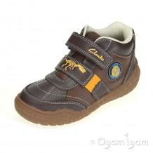 Clarks Stomp Grip Inf Boys Brown Combi Boot