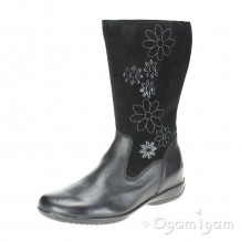 Clarks Daisy Game Inf Girls Black Combi Boot
