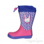 Clarks Tarri Ava Inf Girls Pink Combi Wellington Boot