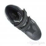 Geox Savage Boys Black Dark Grey Waterproof Boot