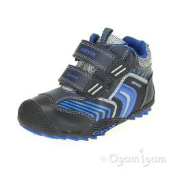 Geox Savage Boys Dark Navy Royal Blue Waterproof Boot