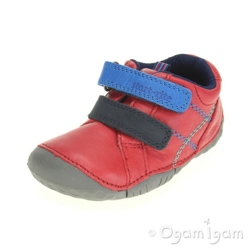 Red Leather Baby Primigi Shoes