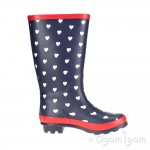 Clarks AdelphiViv Jnr Girls Navy Boot