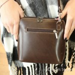Vera Pelle Womens Brown Cross Body Leather Bag