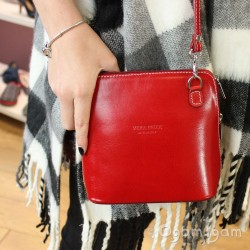 Vera Pelle Womens Red Cross Body Leather Bag