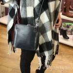 Vera Pelle Womens Grey Cross Body Leather Bag