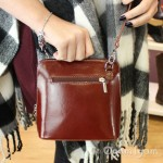 Vera Pelle Womens Dark Tan Cross Body Leather Bag