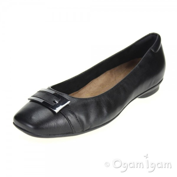 Clarks Candra Glare Womens Black Shoe