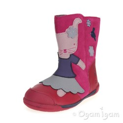 Clarks Iva Friend Fst Girls Berry Boot