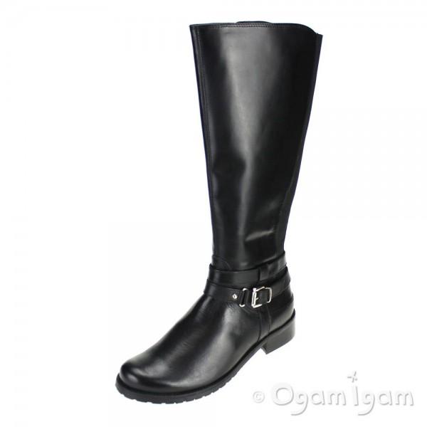 Clarks Nessa Abbey Womens Tall Black Boot