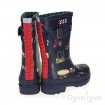 Joules Navy Diggers Boys Navy Wellington Boot