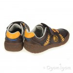 Clarks Stomp Roll Inf Boys Brown Shoe