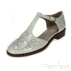 Clarks Taylor Palm Womens Off White Patent Sandal