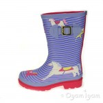 Joules Lavender Horse Girls Lavender Welly