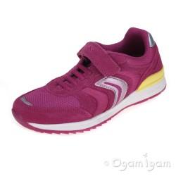 Geox Maisie Girls Fuchsia Trainer