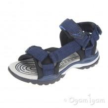 Geox Borealis Boys Navy/Black Sandal