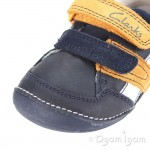 Clarks Tiny Zakk Boys Navy Combi Shoe