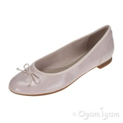 Clarks Couture Bloom Womens Nude Pink Croc Shoe