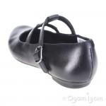 Clarks AbithaWish Jnr Girls Black School Shoe