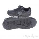 Clarks LeaderPlay Jnr Boys Black School Shoe