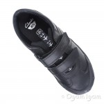 Clarks Jetsky Fun Jnr Boys Black School Shoe