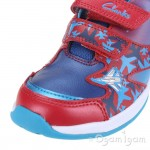 Clarks Piper Fun Inf Boys Red Combi Trainer