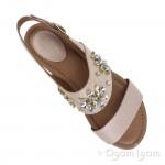Clarks Viveca Melrose Womens Nude Sandal