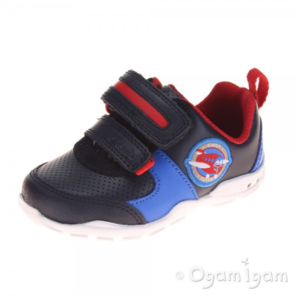 Clarks Brite Zap Fst Boys Navy Combi Shoe