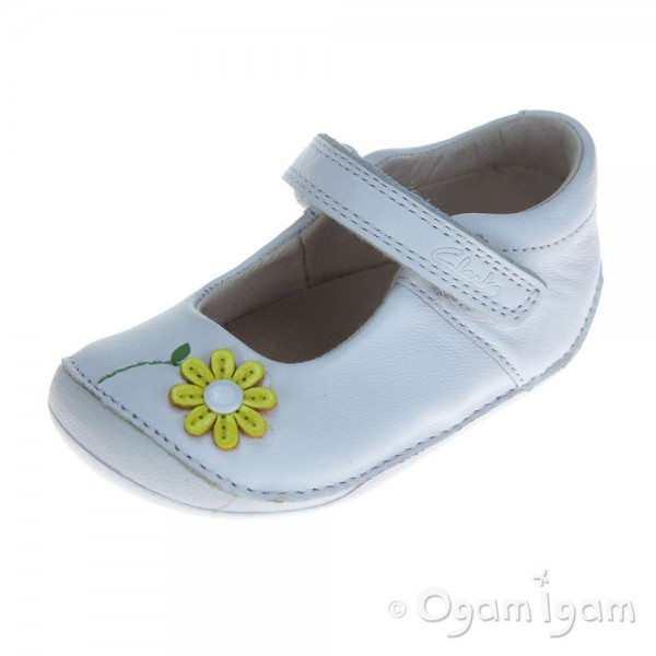 Clarks Little Jam Infant Girls White Shoe