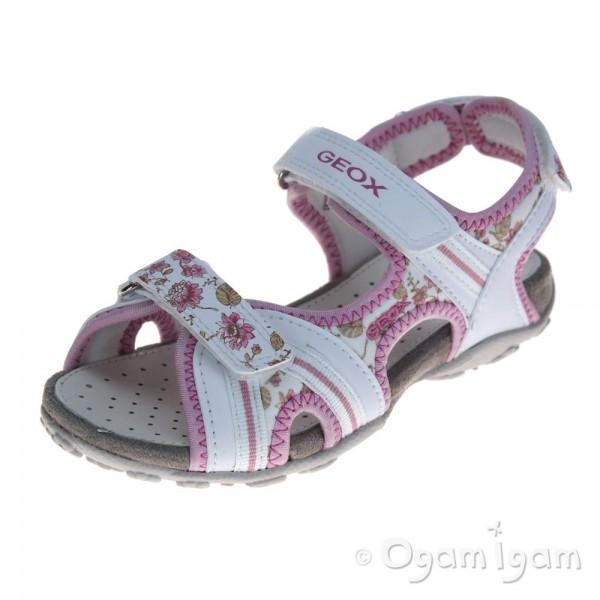 Geox Roxanne Girls White/Pink Sandal