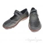 Rieker 44875 Womens Duene Grey Shoe
