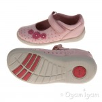 Start-rite Supersoft Daisy Girls Pale Pink/Bright Spot Shoe
