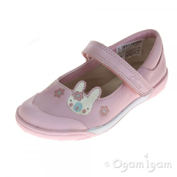 Clarks NibblesNiceInf Girls Baby Pink Shoe