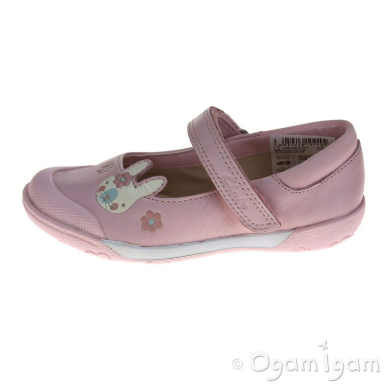 clarks nibblesniceinf baby pink shoe ogam igam