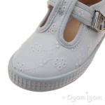 Start-rite Wells Girls Broderie Anglaise White Canvas Shoe