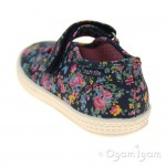 Start-rite Posy Girls Navy Floral Canvas Shoe