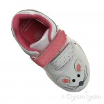 Clarks Giggle Up Fst Girls White Combi Shoe
