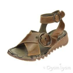 Fly London Tubb Camel Womens Brown Sandal