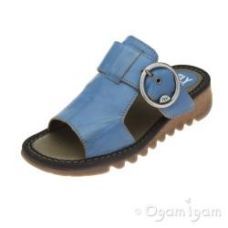 Fly London Tute Azure Womens Blue Sandal