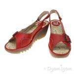 Fly London Yaga Womens Scarlet Red Sandal